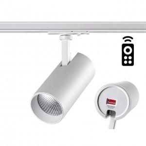Однофазный трековый диммируемый светильник с пультом управления со сменой цветовой температуры NAIL 358356