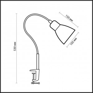 Настольная лампа ODEON LIGHT COSTA 1997/1T