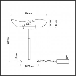 Настольная лампа ODEON LIGHT FLUENT 4857/10TL