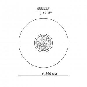 Настенно-потолочный светильник SONEX LAZANA 2074/CL