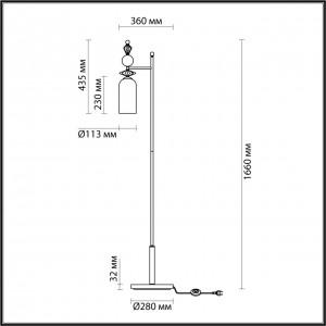 Торшер ODEON LIGHT BIZET 4855/1F