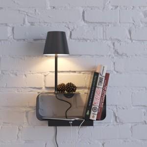 Настенный светильник-полка с подсветкой/USB ODEON LIGHT SVEN 4162/6WL