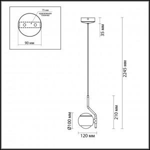 Подвесной светильник ODEON LIGHT ELON 3914/9L