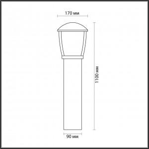 Уличный светильник 110 см ODEON LIGHT TAKO 4051/1F