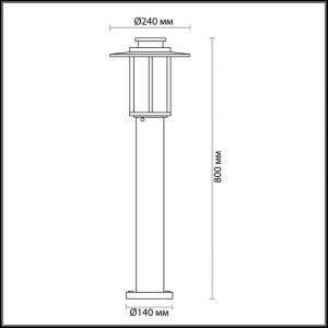 Уличный светильник 80 см ODEON LIGHT MITO 4047/1F