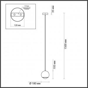Подвес ODEON LIGHT MIA 4227/8L