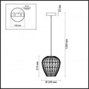 Подвес ODEON LIGHT MAKA 4715/1