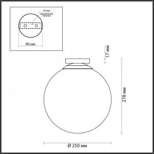 Потолочный накладной светильник ODEON LIGHT BOSCO 4249/1C