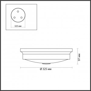 Настенно-потолочный светильник ODEON LIGHT MARSEI 4825/3C